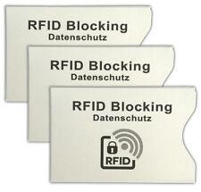 3x Kreditkarten Schutzhülle   RFID Ausweishülle Datenschutz   Kreditkartenmappe