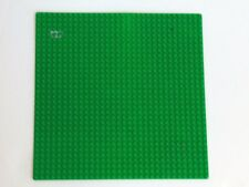 """Authentic Lego Large Baseplate 32 x 32 Green / Water  Base Plate 10"""" x 10"""""""