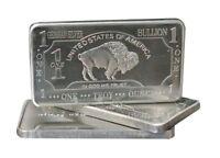 (5) 1 oz One Troy Ounce USA American Buffalo .999 Fine German Silver Bullion Bar