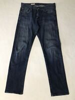 AG ADRIANO GOLDSCHMIED Men's 30R 30 X 33 THE GEFFEN Slouchy Slim Dark Wash Jeans