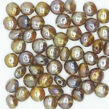 Glass Beads Brown Luster Lentil 7mm. Pack of 50. Made in India.