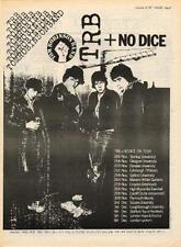 Tom Robinson Band + No Dice UK Tour advert 1977