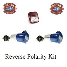 Eu Europe Continental Mains hook up reverse polarity leads & Tester Camper  Kit1