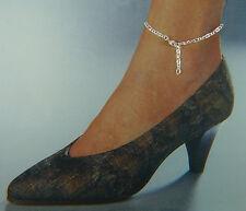 FESSELKETTE (Fußkette) in Fantasieform  in Silber 925/ooo