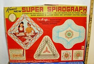 KENNER'S SUPER SPIROGRAPH DRAWING SET BOXED COMPLETE ORIGINAL 1960s