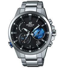 Casio Men Edifice Black Label BLUETOOTH TRAVELLER Black X Blue Watch EQB600D-1A2