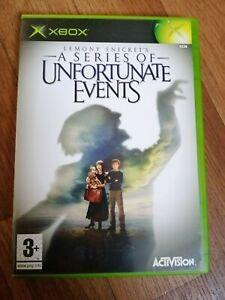 Lemony Snicket's: A Series of Unfortunate Events (Microsoft Xbox) Mint CIB PAL