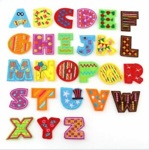 **AU Seller Alphabet Letter Patches Embroidered Iron On Patch DIY Crafts