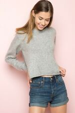 Brandy Melville super soft gray crewneck knit Corrine sweater NWT sz S