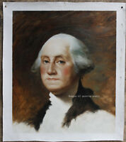 Fine art portrait George Washington Repro old master oil painting on canvas 24""