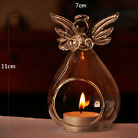 Angel-Candlestick Glass Hanging Candle Tea Light Holder Party Bar Home Decor