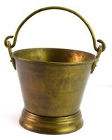 Vintage Old Collectible Beautiful Indian Brass Bucket Kitchen decor. G66-477 US