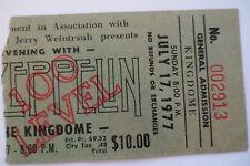 LED ZEPPELIN Original__1977__CONCERT TICKET STUB__Seattle__EX+