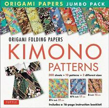 New ListingOrigami Paper Jumbo Pack: Kimono Patterns: 16-Page Book, 300 Folding Sheets in 3