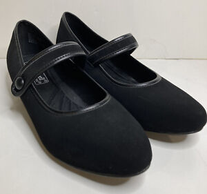 Comfort-Well by Beacon Womens Black Velvet Shoes Low Heel Size 9M