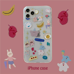 ShockProof Cute Cartoon Animal Clear Case iPhone 11 Pro 12 Pro Max XR X 7 8 Plus