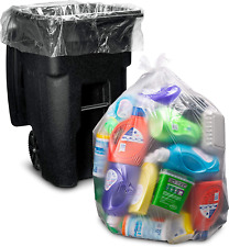 95-96 Gallon Wheeled trash bags Lid Garbage Container Outdoor Waste Bin Basket