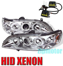98-02 HONDA ACCORD HALO JDM PROJECTOR HEADLIGHT+HID 6K LAMP 99 00 01 DX EX LX SE