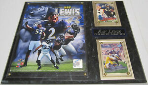 RAY LEWIS BALTIMORE RAVENS FRAMED 8X10 PHOTO-MAN CAVE ART-12X15 WALL PLAQUE
