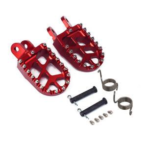 Red CNC Foot Pegs Footpegs Rest For CR80 XR250 XR400 XR350R XR600R XR650L XR650R