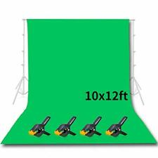Photo Studio Pantalla de fondo verde de 10x12ft fondo transparente de Chromakey