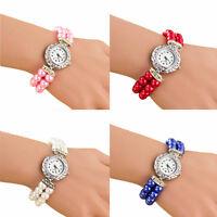 Women Fashion Watch Pearl Bracelet Analog Quartz Wrist Watches Students Watches