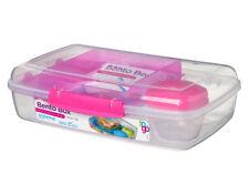 Sistema Bento Caja 1.76L, Rosa PORCIONES Alimentación saludable escuela de trabajo en el camino