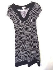 SWEET STORM Black and White Dress Career Wear Form Fitting Size Small