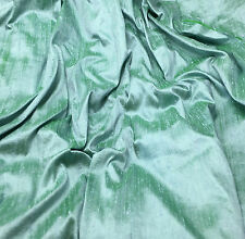 "Silk DUPIONI Fabric FROSTED MINT AQUA fat 1/4 18""x27"" remnant"