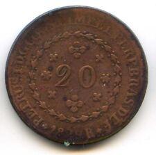 BRESIL PEDRO I (1822-1831) 20 REIS 1829 R RIO KM 360.1
