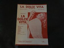 La Dolce Vita (The Sweet Life) 1960 Movie by Fellini Sheet Mus
