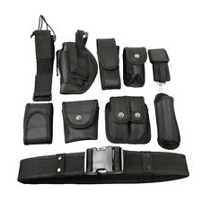 Police Security Guard Law Enforcement Modular Equipment Nylon Duty Belt 9 Pouch
