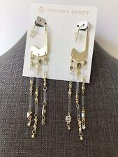 NWT Kendra Scott Yellow Gold Corza Drop Earrings