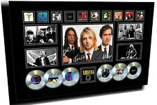 NEW NIRVANA KURT COBAIN SIGNED LIMITED EDITION FRAMED MEMORABILIA