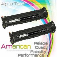 2pk Black CE320A Toner Cartridge for HP 128A LaserJet Pro CM1415FNW CP1525NW MFP