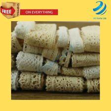 Vintage Crochet Lace Cotton Sewing Ribbon DIY sewing Craft Tools New 10 Yards