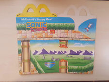 Sonic The Hedgehog-McDonald 's 1995 Inutilisé HAPPY MEAL Box #B2610