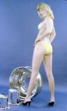 1970s Cardoff Negative, sexy blonde pin-up girl with chrome wheels, t15036