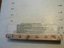 STICKER,DECAL METHODE DE DEMARRAGE ET DARRET DU MOTEUR 74HB-6346-BA BIG SIZE