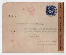 1940 DUTCH EAST INDIES Cover CENSOR Pangkalpinang Indonesia STAMP Cancel CUSHING