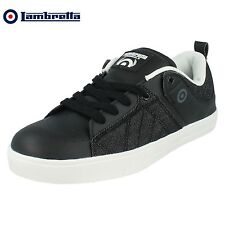 Mens LAMBRETTA New Denim SKATER SNEAKER Lace Up Casual Trainers Shoes Boots 6-12