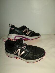 Women's New Balance 412k3 Trail Running Shoes Black purple gray orange Size 9
