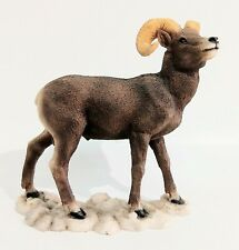 """Mountain Sheep/Ram #113-00055 Hand made and painted by Castagne 6"""" tall """" wide"""