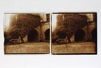 Casa Antica Francia Foto Stereo T2L3n Placca Da Lente Vintage