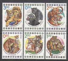 Bulgaria 1992 Gatos Salvajes/Tiger/León/Panther 6 V Set b4349