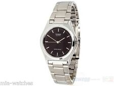 Casio MTP1130A-1A Mens Stainless Steel Casual Analog Dress Watch Black Dial NEW