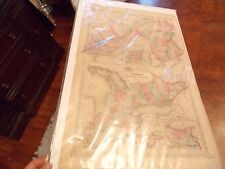 ORIG 1866 JOHNSON'S Map CANADA Quebec Montreal 18 x 27 + New York