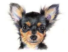 artav Chihuahua 09 Art Print From Watercolor Painting