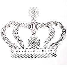 Rhinestone Iron On Transfer Hot fix Motif Fashion Design Jewellery Large crown