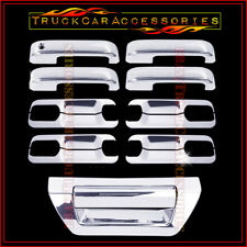 For FORD F150 2015 2016 Chrome Covers 4 Door Handles WITH Back Plates+Tailgate